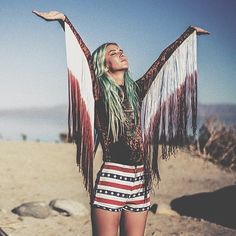 insta_child of the wild Rooted in celebrating historical rituals, Southern California based brand Child of The Wild's gemstoned jewelry and Americana inspired handbags and furnishings evoke a free-spirited bo-ho vibe, which is sure to fit the scenes of California deserts