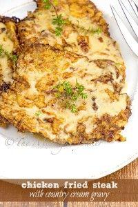Chicken Fried Steak with Country Cream Gravy