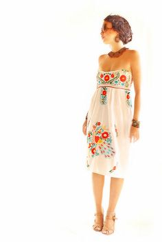 Corset style Mexican dress