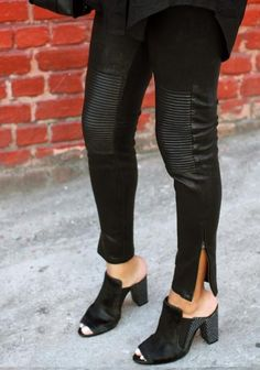 Mules are a major comeback trend from the '90s. Whether you prefer open- or closed-toe slip-ons, this style of shoe pairs well with boyfriend jeans, skinny jeans, skirts or leather pants. #fall #style