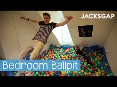 The Bedroom Ball Pit I pinned this for two reasons. One more so than the other. 1. The idea of turning a room into a ballpit is so extremely clever and is definitely pinworthy material. BUT. The MAIN reason this is posted is because Jack and Finn are the most attractive twins I have set my eyes on and I would like to share them with you! You. Are. Welcome. Enjoy and please subscribe to them!