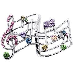Multicolor Music Note Pin Swarovski Crystal Pin Broach Fantasyard. $15.59. Exquisitely detailed designer style. Gift box available for an additional fee. Please check out through gift-wrap option. Other color available. Save 39%!