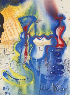 The alchemist by Salvador Dalí, 1971.