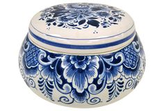 Delft Round Trinket Box from Holland