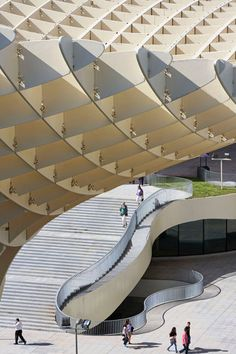 Metropol Parasol - Seville by J. MAYER H. ARCHITECTS, ARUP.... blocks from our apartment.