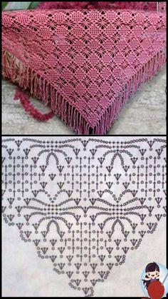 Crochet Scarves, Crochet Shawl, Crochet Clothes, Crochet Stitches, Crochet Patterns, Poncho Shawl, Scarf Hat, Wraps, Crochet Shawl Patterns
