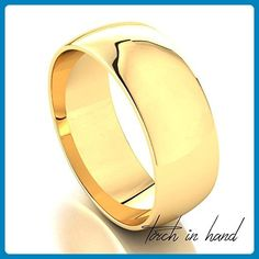 Men's 14k Solid Yellow Gold 7mm Wedding Band - Wedding and engagement rings (*Amazon Partner-Link)