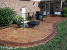 How To Stain Concrete Patio. Colored ...