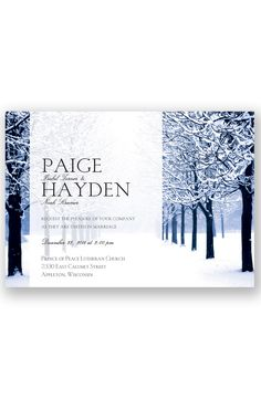 Winter Woods Wedding Invitation by David's Bridal