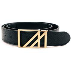 Mint Anaconda Belt Black Gold Square M Buckle ($80) ❤ liked on Polyvore featuring men's fashion, men's accessories, men's belts, black, mens snakeskin belt and mens gold belt