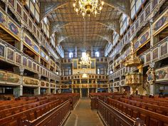 Ceiling Churches of Peace. Constructed within one year after the Peace of Westphalia (treaties ending the Thirty Years' War in 1648), these churches—the largest timber-framed religious buildings in Europe—were built by Lutherans in the Roman Catholic parts of Silesia, Poland.
