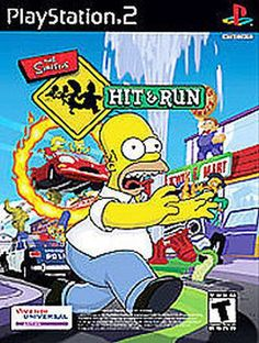 The Simpsons Hit Run Sony PlayStation 2 2003 Disc Only Black Label 020626721110 | eBay