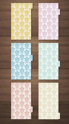 6 Dividers for Filofax Size Personal available on my Etsy Shop