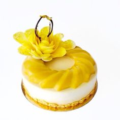 Mother's Day special entremet Anna with passion fruit mousse/ mango mousse & passionfruit gelee