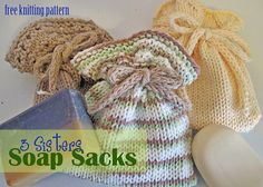 Ravelry: 3 Sisters Soap Sacks pattern by Melanie Smith