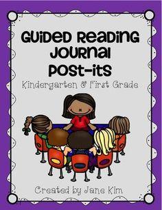 UPDATED! Guided Reading Journal Post-its: Kindergarten & First Grade