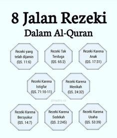 8 jalan rezeki dalam Al-Quran Pray Quotes, Quran Quotes Inspirational, Allah Quotes, Muslim Quotes, Spiritual Quotes, Positive Quotes, Life Quotes, Reminder Quotes, Self Reminder