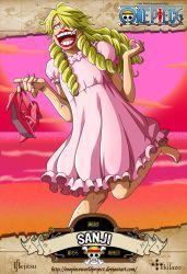 One Piece - Sanji by OnePieceWorldProject on DeviantArt Arlong One Piece, Sanji One Piece, Anime One Piece, One Piece World, Cracker One Piece, One Piece English Sub, Manga Anime, Sanji Vinsmoke, Me Me Me Anime