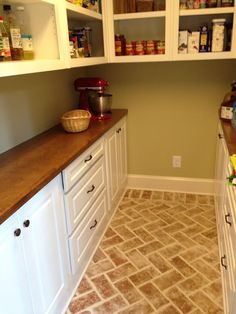 This Butleru0027s Pantry Is A Wrightu0027s Ferry Brick Tile Entry Foyer, In The  Bright White