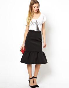 Love this pencil skirt with peplum from @ASOS.com.com #Wishlist <3...love peplum hem skirts :)
