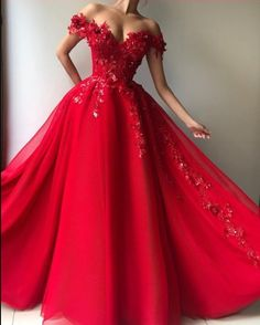 Long Red Lace Embroidery Prom Dresses Tulle Off Shoulder Evening Gowns Source by lelatiptop dressed long Red Quinceanera Dresses, Gold Prom Dresses, Elegant Prom Dresses, Red Wedding Dresses, Prom Dresses For Sale, Tulle Prom Dress, Elegant Ball Gowns, Lace Dress, Dress Red