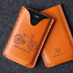 iPhone Leather Case - Drive Less Ride More - by bRainbow