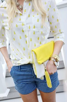 Pineapples & Gingham