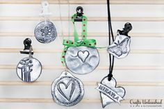 Polymer Clay Tutorial: Faux Pewter Pendants http://www.craftsunleashed.com/jewelry-main/polymer-clay-tutorial-pewter-pendants/