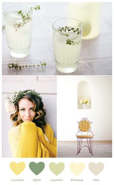 Color Palette: Carnation + Thyme