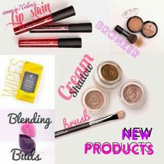 New products  1. 7 colors in Smudgeproof, waterproof lip stains 2. Makeup Remover cloths 3. CREME eyeshadow 4. Creme eyeshadow brush  5. Blending Buds 6. Beachfront bronzer  Check them out and more at www.lovelylashladiez.com