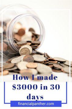#makemoney #howtomakemoney #sidehustles Over 30 side hustles to help you make $3000 in just 30days