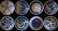 cbacon spot on bowls blue sgrafitto