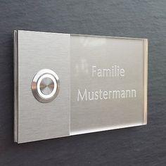 MODERNE Haustürklingel LED Klingelplatte Türklingel Klingel GRAVUR 72.001.F.015 in Heimwerker, Fenster, Türen & Treppen, Türklingelanlagen | eBay