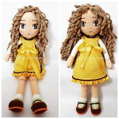 """44 Beğenme, 1 Yorum - Instagram'da D i c l e Y a m a n (@dicle.yaman): """"Yellow princess.... . . #amigurumi #örgüoyuncak #örgü #tığişi #elişi #handmade #crochetlove…"""""""