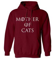 New to FloxCreative on Etsy: Mother of cats hoody hipster tumblr instagram weheartit geek nerd GOT parody dragons joke funny pun kitty pet animal hoodie XS - 5XL 87 (22.95 GBP)