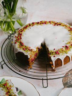 Pistachio Raspberry & Rose Cake — Kulinary Adventures of Kath - Modern Mini Cakes, Cupcake Cakes, Cupcakes, Baking Recipes, Cake Recipes, Dessert Recipes, Pistachio Cake, Un Cake, Gateaux Cake