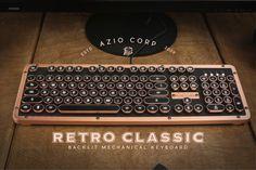 AZIO INDUSTRY FIRST VINTAGE LUXURY TYPEWRITER INSPIRED MECHANICAL KEYBOARD