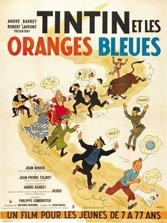 Tintin y la naranjas azules