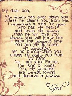 I need to hang this in my room so i know that God is looking out for me. If i had this hanging my room, I would also know that God has the perfect guy for me and to be patient because he will send him to me when he thinks I'm ready for my perfect guy. Love Me More, Love You, My Love, The Words, Adonai Elohim, Quotes To Live By, Me Quotes, Qoutes, Quotations