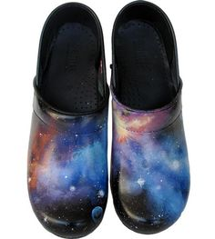 a4731207b Hand painted Nebula Swanx clogs  space  galaxy  shoes