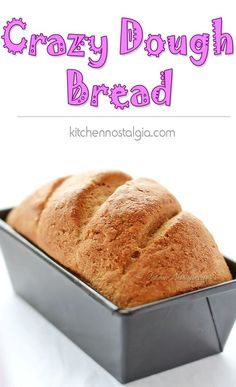 Crazy Dough Bread - easy bread recipe made using regular and vegan Crazy Dough - kitchennostalgia.com