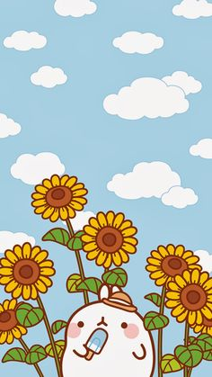 Wallpapers para tu Celular Molang - Ley-WorldKawaii Wallpapers for your Molang Mobile - Ley-WorldKaw Arte Do Kawaii, Kawaii Art, Kawaii Anime, Kawaii Cute Wallpapers, Kawaii Wallpaper, Pastel Wallpaper, Cute Kawaii Backgrounds, Doodles Kawaii, Cute Kawaii Drawings