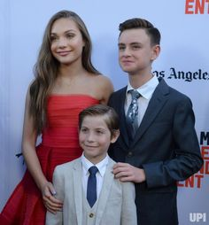 """Cast members Maddie Ziegler, Jacob Tremblay and Jaeden Lieberher (L-R) attend the premiere of the motion picture dramatic thriller """"The…"""