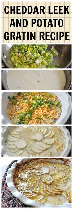 Cheddar leek and potato gratin recipe