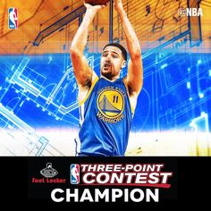 8a6263c7c899 Klay s turn to win the 3-pt contest Thompson Golden State