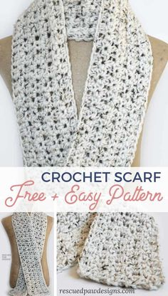Crochet Scarf Pattern Make this easy crochet scarf for beginners today with this FREE scarf crochet pattern!Make this easy crochet scarf for beginners today with this FREE scarf crochet pattern! Beginner Knit Scarf, Crochet Scarf For Beginners, Crochet Scarf Easy, Crochet Simple, Stitch Crochet, Beginner Crochet Projects, Quick Crochet, Crochet Motifs, Easy Crochet Patterns
