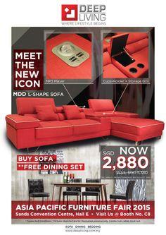 Deep Living Pte Ltd | Buy Sofa - Free Dining Set Promotion