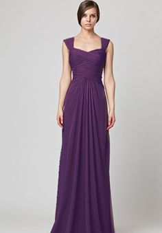 Purple bridesmaid dress - love the detail across the bodice