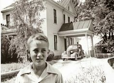 A young James Dean poses in front of his house, Fairmount, Indiana Fairmount Indiana, James Dean Photos, Jimmy Dean, East Of Eden, Dental Insurance, Hollywood Star, Vintage Hollywood, Classic Hollywood, We Are The World