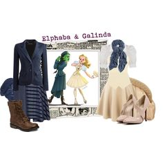 Elphaba & Galinda by merahzinnia on Polyvore